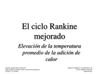 El ciclo Rankine mejorado