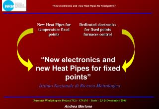 Dedicated electronics for fixed points furnaces control