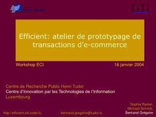 Efficient: atelier de prototypage de transactions d'e-commerce