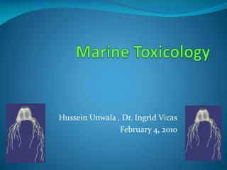 Marine Toxicology