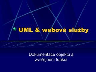 UML & webov é služby