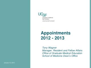Appointments 2012 - 2013