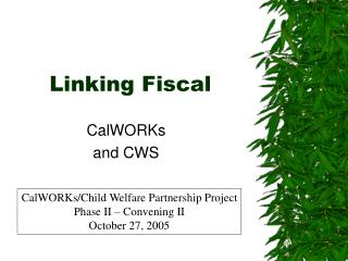 Linking Fiscal