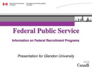 Information on Federal Recruitment Programs