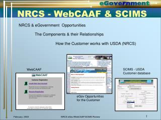 NRCS - WebCAAF & SCIMS