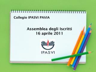 Assemblea degli Iscritti  16 aprile 2011