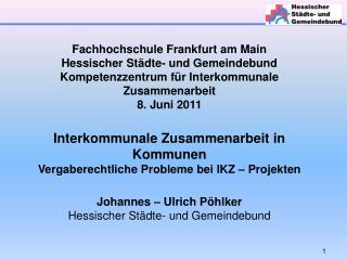 Fachhochschule Frankfurt am Main Hessischer Städte- und Gemeindebund