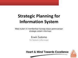 Strategic Planning for Information System