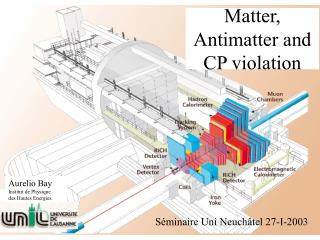Matter, Antimatter and  CP violation