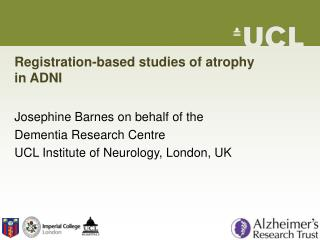 Registration-based studies of atrophy  in ADNI