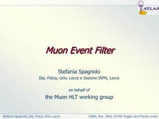 Muon Event Filter