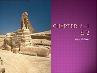 Chapter 2 -1 & 2