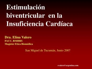 Estimulación biventricular  en la Insuficiencia Cardíaca