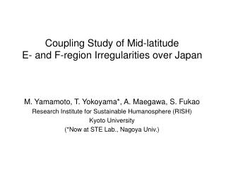 Coupling Study of Mid-latitude  E- and F-region Irregularities over Japan