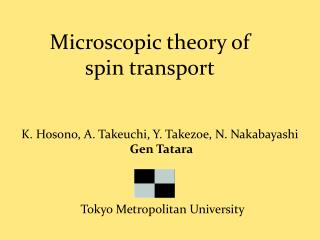 Microscopic theory of spin transport