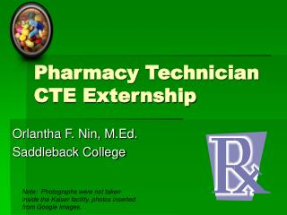 Pharmacy Technician CTE Externship