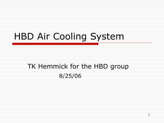 HBD Air Cooling System