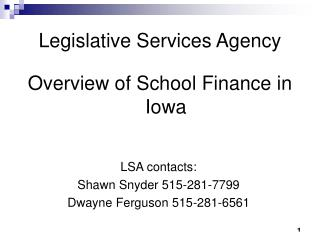 Legislative Services Agency