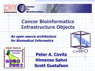 Cancer Bioinformatics Infrastructure Objects