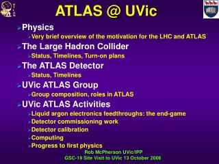 ATLAS @ UVic