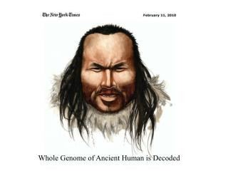 Whole Genome of Ancient Human is Decoded