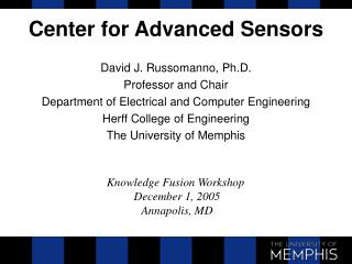 Center for Advanced Sensors