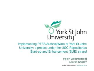 York St John University | yorksj.ac.uk