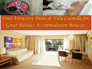 Great Holiday Accommodation Boracay