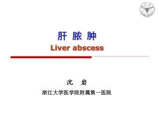 肝 脓 肿 Liver abscess
