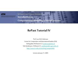 RePast Tutorial IV