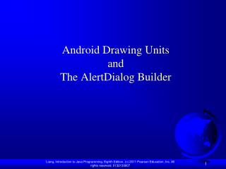 Android Drawing Units and The AlertDialog Builder