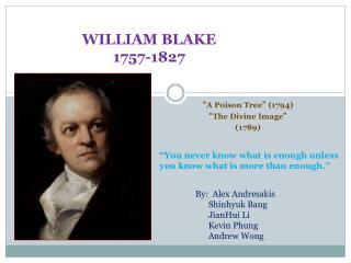 WILLIAM BLAKE 1757-1827