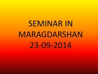 DENTAL AWARENESS SEMINAR IN MARAGDARSHAN