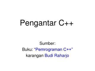 Pengantar C++