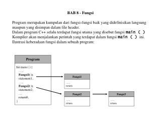 BAB 8 - Fungsi