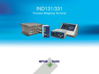 IND131/331 Process Weighing Terminal