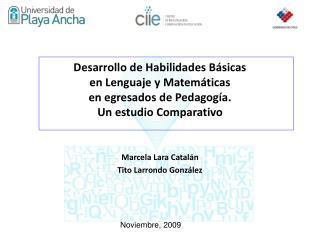 Marcela Lara Catalán Tito Larrondo González