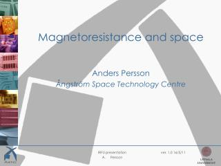 Magnetoresistance and space