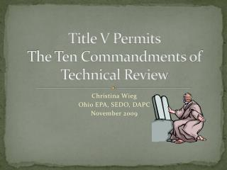 Title V Permits The Ten Commandments of Technical Review