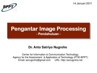 Pengantar Image Processing - Pendahuluan -