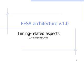 FESA architecture v.1.0