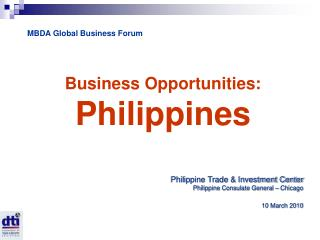 Business Opportunities:  Philippines