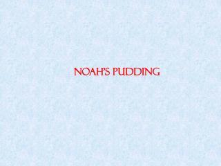 NOAH'S PUDDING