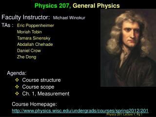 Physics 207,  General Physics