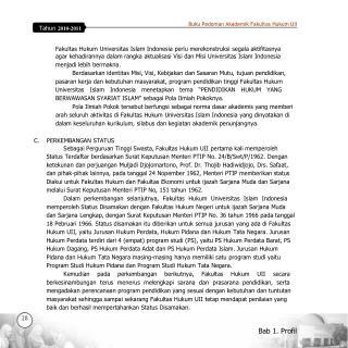 Buku Pedoman Akademik Fakultas Hukum UII
