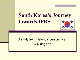 South Korea's Journey towards IFRS