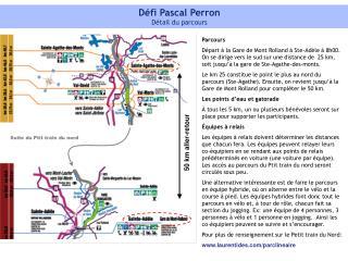 Défi Pascal Perron Détail du parcours