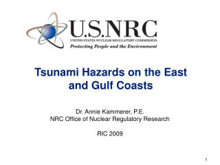 Tsunami Hazards on the East  and Gulf Coasts