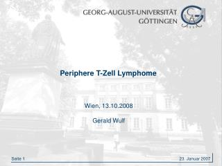 Periphere T-Zell Lymphome