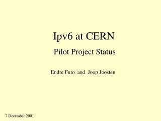 Ipv6 at CERN
